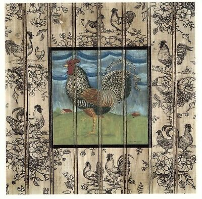 Rooster Country Quilt Apples Select-A-Size Waterslide Ceramic Decals Xx