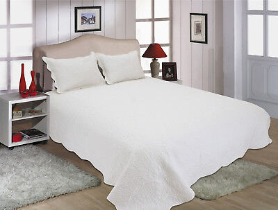 ALL FOR YOU Reversible Bedspread, Coverlet,Quilt w/ pillow sham Solid *Colors*