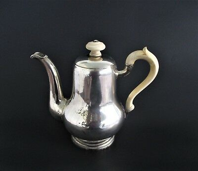 Antique 19th Century Sterling Silver Teapot Signed
