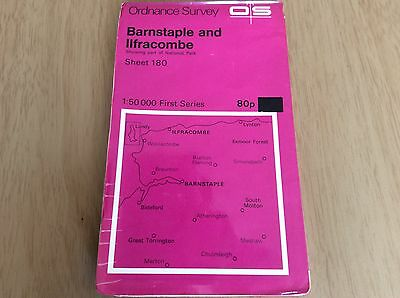 ORDNANCE SURVEY FIRST Series.       No 180 BARNSTAPLE AND ILFRACOMBE