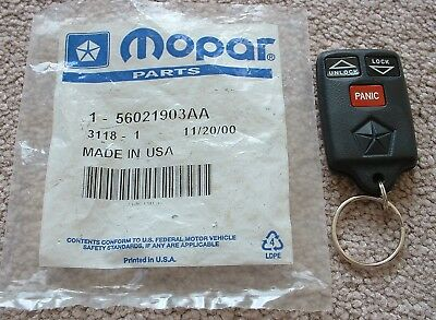 Mopar Chrysler Jeep Dodge REMOTE CONTROL Transmitter 56021903AA TRW **NEW**