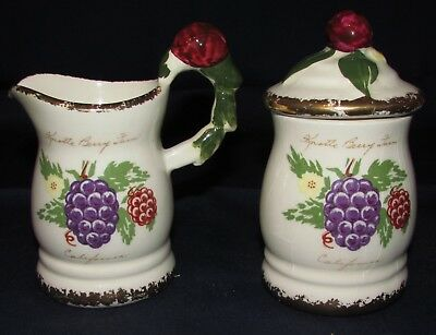 Vintage Knotts Berry Farm Creamer and Sugar/Jam Jar, At Glow Studio, Pretty!