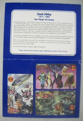 The Unseen Works Of Jack Kirby Series Ii Phone Cards 1995 Ruby Spears Comics