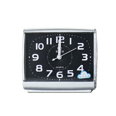 New Small Travel Sweep Silent Movement Beep Alarm Clock With Snooze Balck White