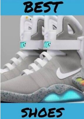 10fa0b86398b NIKE AIR MAG MARTY McFLY BACK TO THE FUTURE JESTREAM GREY BLUE 5x7