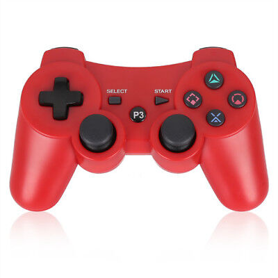 NEW Wireless Controller For PS3 Bluetooth PS3 Games Remote  With Cable  (RED)