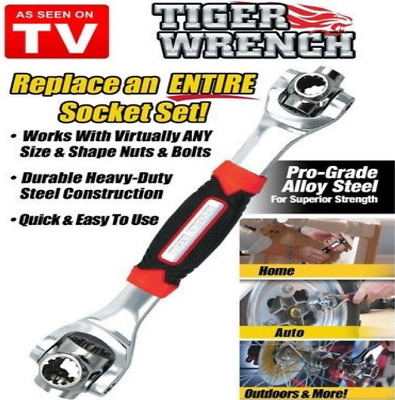 Wrench In One Socket Works With Spline Bolts All Size Stand Socket Tiger 48 in 1
