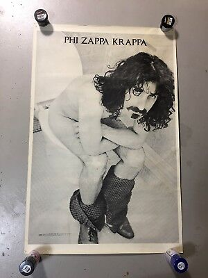 """Frank Zappa Phi Zappa Krappa poster 25"""" x 38"""" Mothers of Invention concert music"""