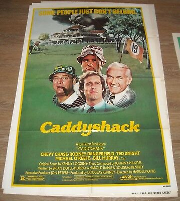 1980 Caddyshack 1 Sheet Movie Poster Bill Murray Chevy Chase Dangerfield Knight
