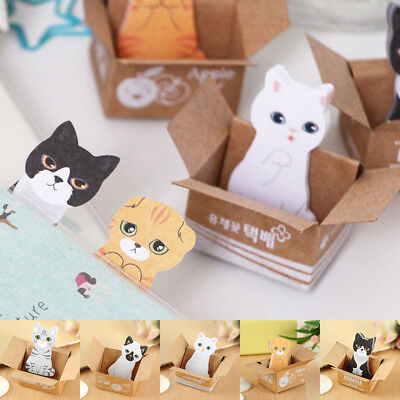 30 Pages Cute Cat Sticker Bookmark Point It Marker Office Message Sticky Notes