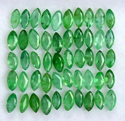 4x2 mm Natural Emerald Marquise Cut Lot 40 Pcs 3.16 CTS Untreated Loose Gemstone