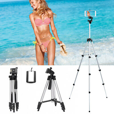 Professional Camera Tripod Stand Mount Phone Holder for iPhone X Samsung Note 9