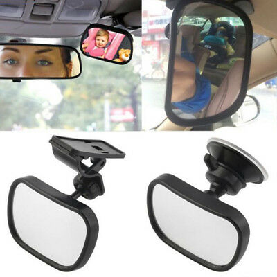 2 Site Car Baby Back Seat Rear View Mirror for Infant Child Toddler Safety  JR