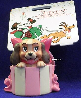 "Disney's Lady & The Tramp ""lady In Hat Box"" Ornament Figurine 2017 New In Box"