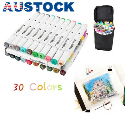 Marker Pen 30 Color Graphic Art Sketch Twin Point Broad Point Copic Touch AU G