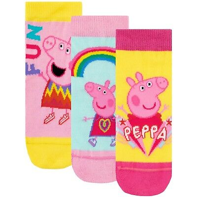 Peppa Pig Socks I Girls Peppa Pig Pack of Socks I Peppa Pig Ankle Socks