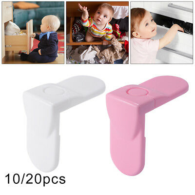 10/20pcs Adhesive Child Baby Kids Safety Lock For Door Drawer Cupboard Cabinet