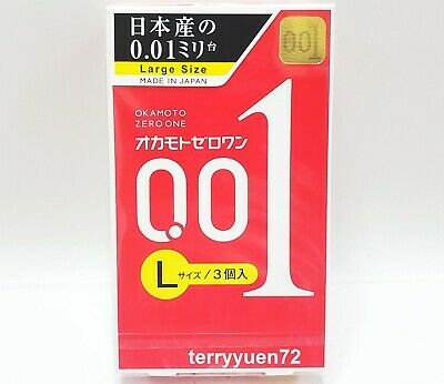 Okamoto 001 0.01 Zero One Ultra Thin Condom Thinnest Skinless Large Size Japan