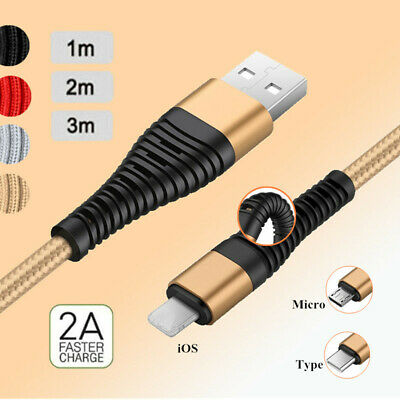 1M 2M 3M Long Micro USB Data Sync Charger Cable Lead For Samsung Android iPhone