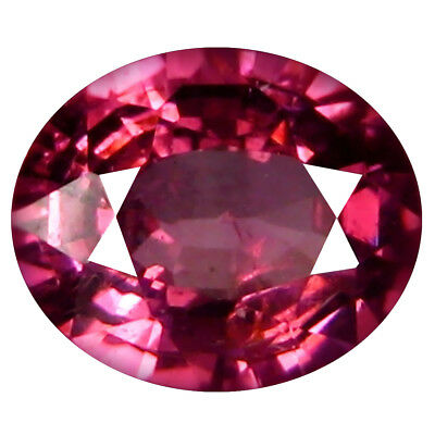 1.02 Ct AAA+ Charmantes Forme Ovale (7 X 6 mm) Rosé Rouge Grenade Rhodolite