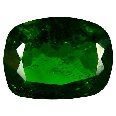 1.23 Ct AAA+ Étonnant Coussin Forme (8 X 6 mm) Vert Chrome Diopside
