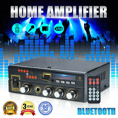 800W bluetooth Audio Stereo Digital HIFI Amplifier USB FM SD Home Car 220V/12V