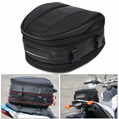 Motorcycle Rear Tail Seat Back Saddle Helmet  Waterproof Shoulder Carry Bag