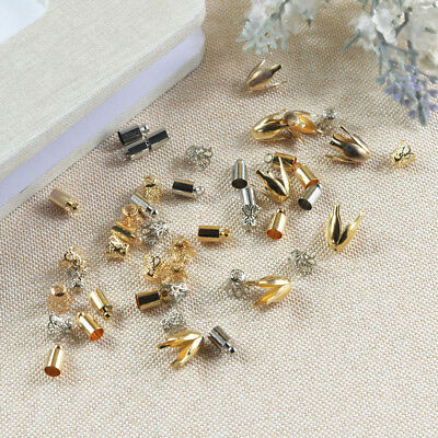 50pc Necklace Cord End Caps Tassel Crimp End Connectors DIY Jewelry Findings