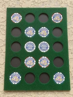 9x12 GREEN DISPLAY INSERT FOR 20 CASINO POKER CHIPS (NOT INCLUDED)