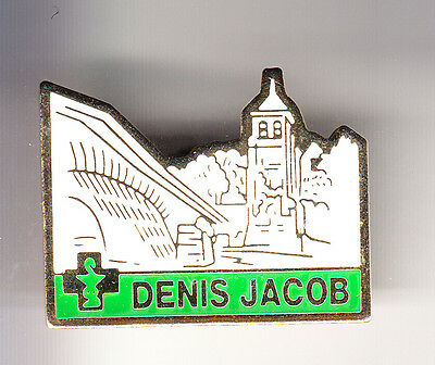 Rare Pins Pin's .. Medecine Medical Pharmacie Jacob Pont Bridge Trilport 77 ~Ck