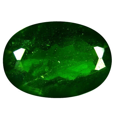 6.45 Ct AAA Grand Style Forme Ovale (14 X 10 mm) Vert Chrome Diopside