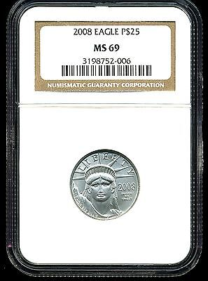 2008 P$25 Platinum American Eagle MS69 NGC 3198752-006