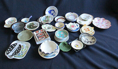 46 x Small Decorative Plates / Ashtrays / Pin / Trinket Dishes etc  - W729