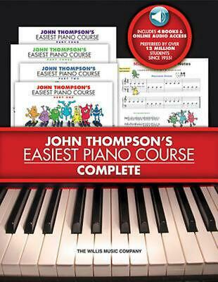 John Thompson's Easiest Piano Course - Complete [With 4 CDs] by John Thompson (E