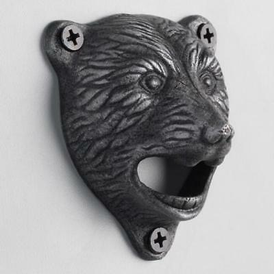 Brand New Metal Wall Mounted Grizzly Bear Beer Bottle Opener Cabin Man Cave Bar