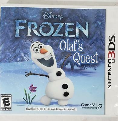 Nintendo 3DS Frozen Olaf's Quest With Manual & Case (HE3000539)
