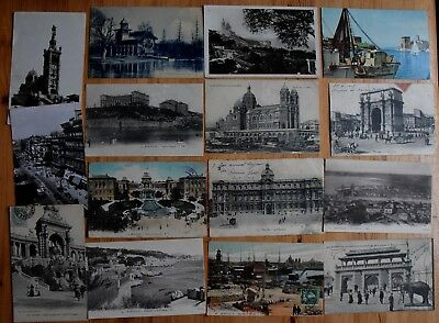 13 : Marseille - Lot 58 cartes postales anciennes - CPA + qq CPSM - Animations