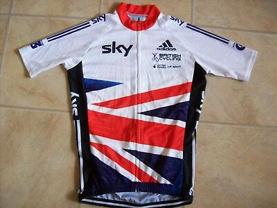 Great Britain Sky Cycling Top Jersey (Small) Adidas