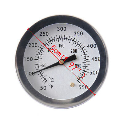 Stainless Steel Barbecue BBQ Smoker Grill Thermometer Temperature Gauge 50-550℉