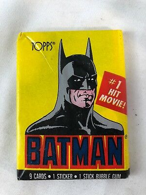1989 Topps BATMAN Joker  Sealed Series 1 Vintage DC Original Wax Pack *New