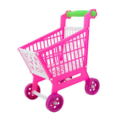 Miniature Supermarket Shopping Hand Trolley Cart for Kids Role Play Toy