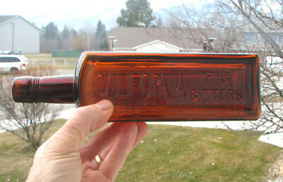 neat one! Western old CALIFORNIA FIG BITTERS / SAN FRANCISCO CA bottle EXT. FIG