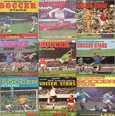 My Favourite Soccer Stars 1970s Footballers Football Player Cards – Various
