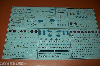 AIRFIX  FALKLANDS  SET DECALS  98670   1:72 scale decals,  6 subjects