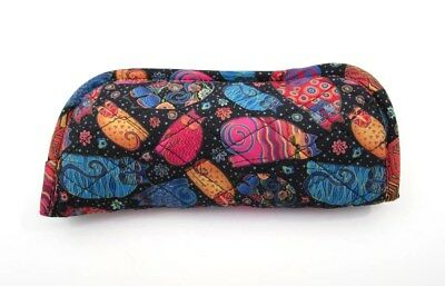 LAUREL BURCH Quilted Eyeglass or Sunglass Pouch ~ Multi Feline ~ New