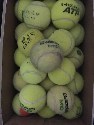 24 Used Tennis Balls (free P&P) ideal for Dog Toys. Beach Games etc
