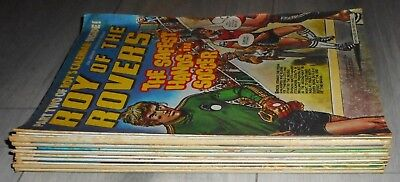 Lot Of 12 Roy Of The Rovers Football Comics , 1979 , Jan/april