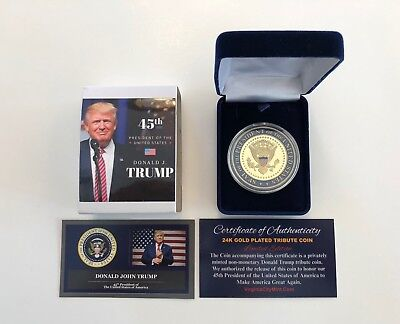 President Donald Trump...  Presidential Seal...  Commemorative Coin.. in a Case