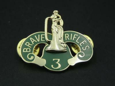 3Rd Cavalry Us Army Hat Lapel Pin Brave Rifles **buy 1 Get 1 Free!!** Dui