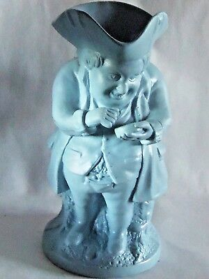 Victorian blue tinted Staffordshire stoneware Toby jug Snuff Taker